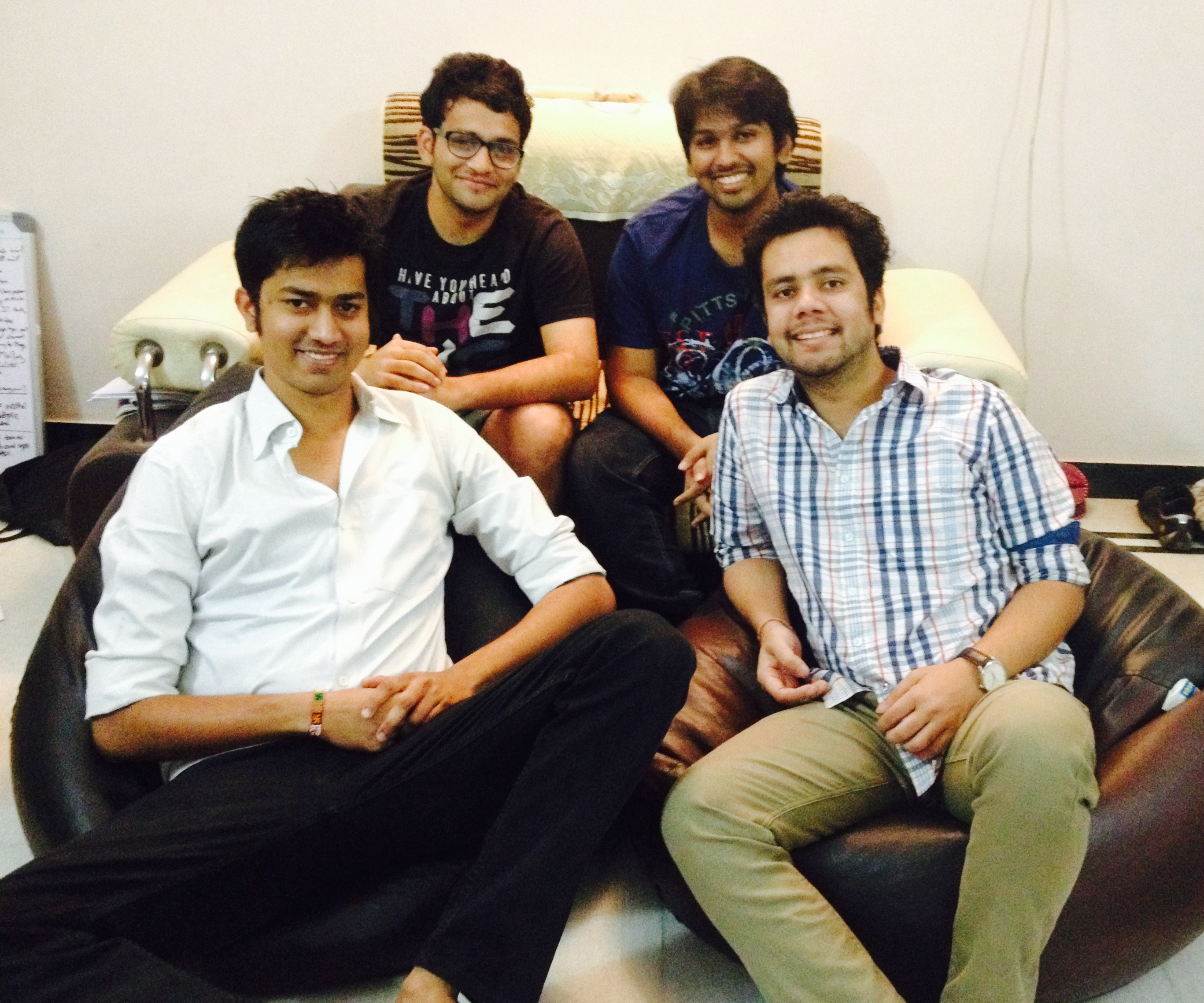 Team Medyog 1(Pranat Bhadani, Parth Dhoot, Shantanu Jain & Nitin Jain- from left) (1)