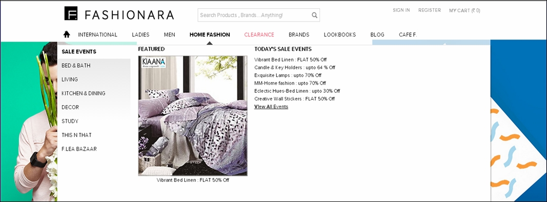 Fashionara enters Home Fashion segmet