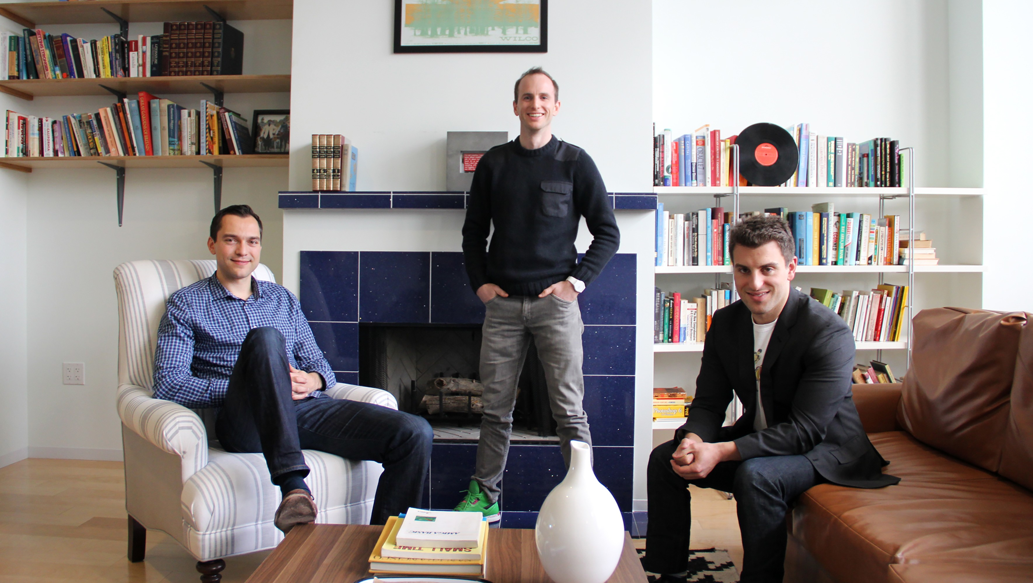 Brian Chesky, Nathan Blecharczyk and Joe Gebbla