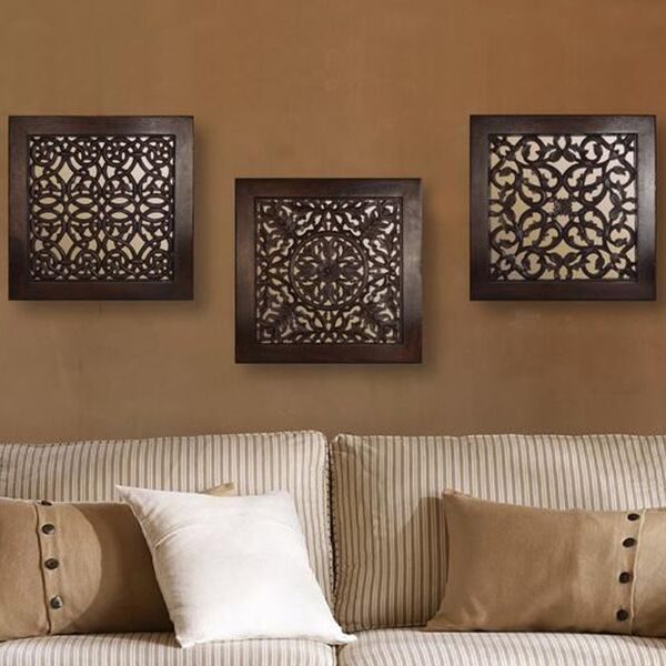 BROWN SQUARE WALL ART