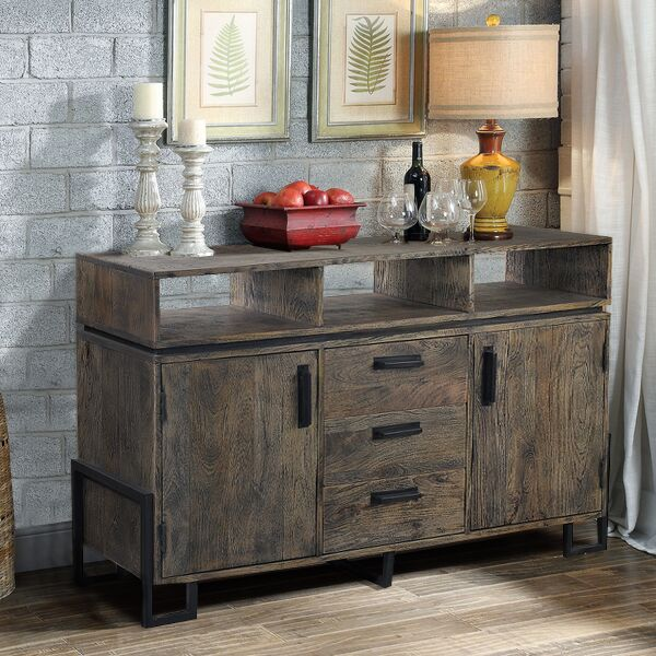 Metal & wood sideboard