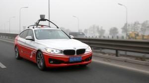 Autonomous car by Baidu and BMW