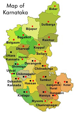 Tourist Map Karnataka
