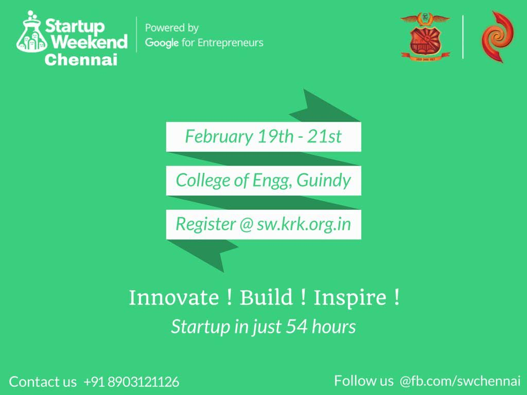 Google Startup Weekend 2016 At College of Engineering, Guindy From ...