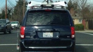 A Dodge Van registered with Apple