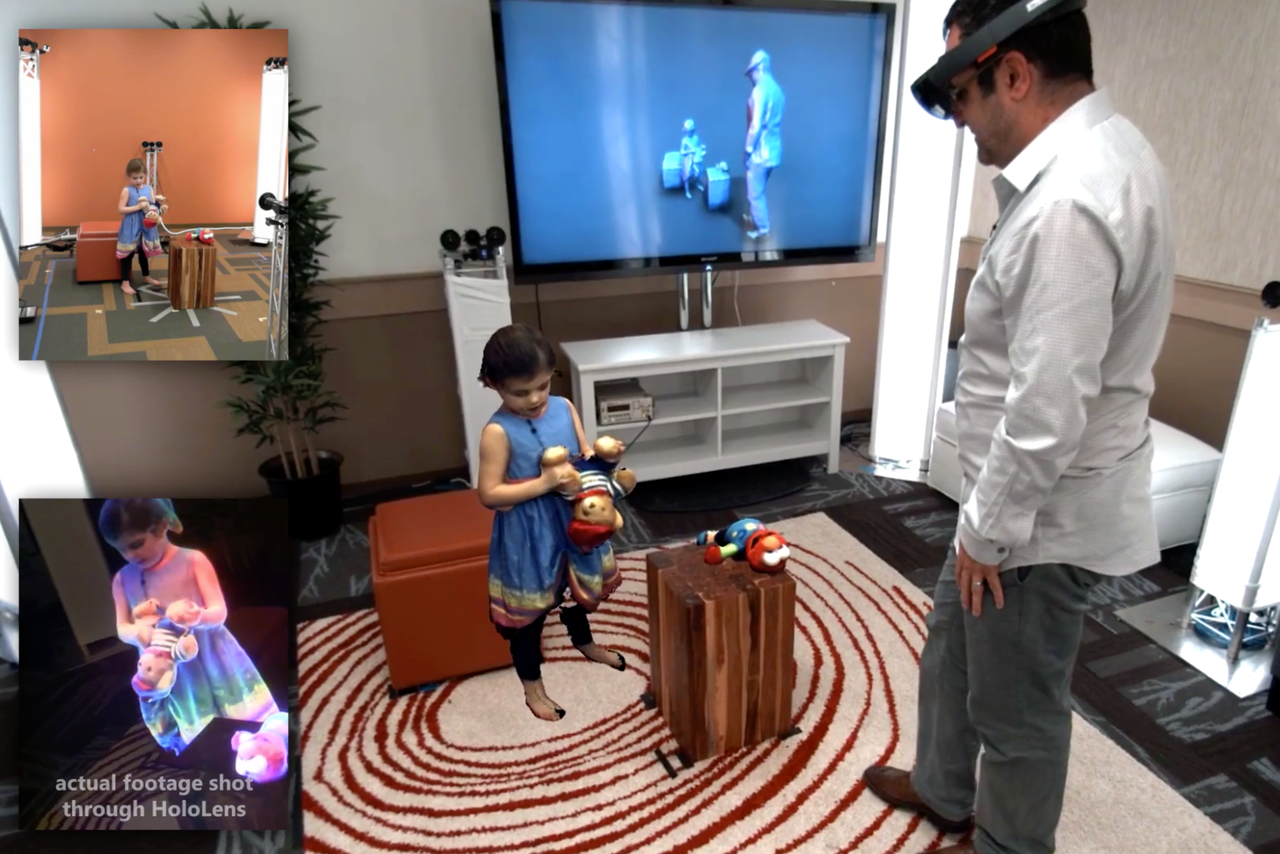 Microsoft demonstrates new hologram tech with Holoportation