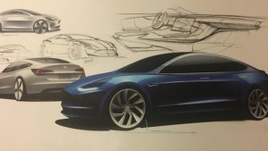 Mr Musk has tweeted design sketches of the Model 3