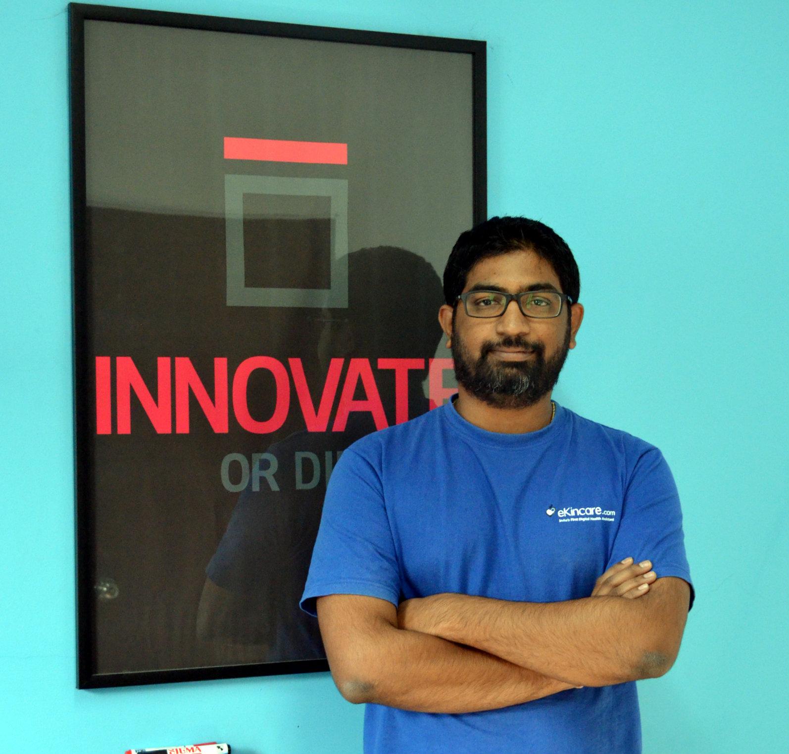 ekincare founder Kiran Kalakuntla, Founder