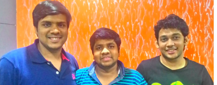 [from left to right]Rohit , Abhishek and Aditya are cofounders of Zeroinfy !