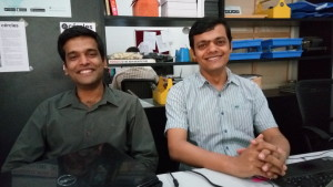 Co-founders of GyanDhan Ankit Mehra (L) and Jainesh Sinha (R)