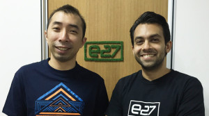 e27 Co-founders Thaddeus Koh (L) Mohan Belani (R) dealstreetasia.com
