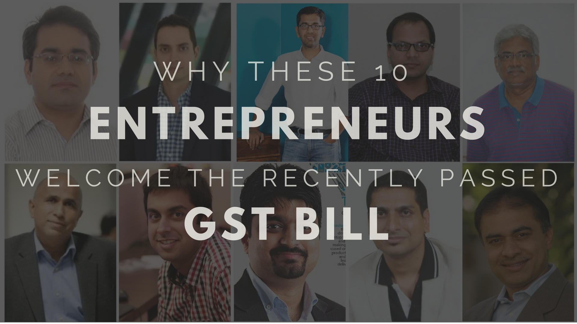 entrepreneurs gst bill