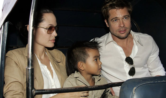 Even Brangelina could not resist rickshaw ride! Image : india.com