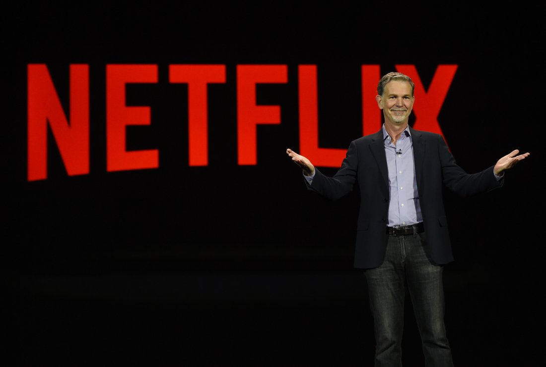 LAS VEGAS, NV - Netflix CEO Reed Hastings (Photo by Ethan Miller/Getty Images)