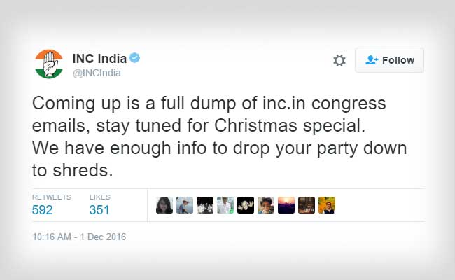 congress twitter hacked