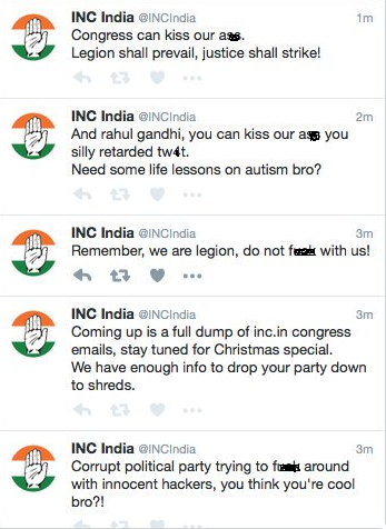 congress twitter hacked