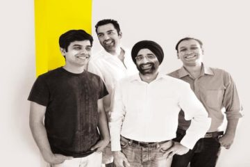 (L-R) Ronak Kumar Samantray, Chief Software Architect, NowFloats, Neeraj Sabharwal, Co-Founder and Chief Experience Officer, NowFloats, Jasminder Singh Gulati, Co-founder & CEO, NowFloats, Nitin Jain, Co-Founder and CO