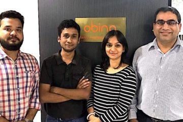 (Left to right) Pankaj Singh Bora- Co-Founder Fitard, Shubham Goyal- Co-Founder Fitard, Ritu Srivastava- Founder Obino and Yogesh Sachdeva- Co-founder Obino(Final)
