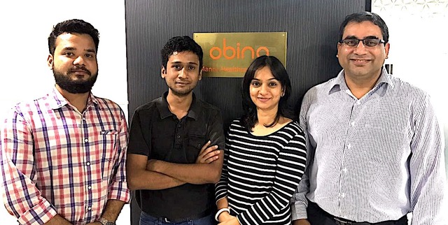 (Left to right) Pankaj Singh Bora- Co-Founder Fitard, Shubham Goyal- Co-Founder Fitard, Ritu Srivastava- Founder Obino and Yogesh Sachdeva- Co-founder Obino(Final)