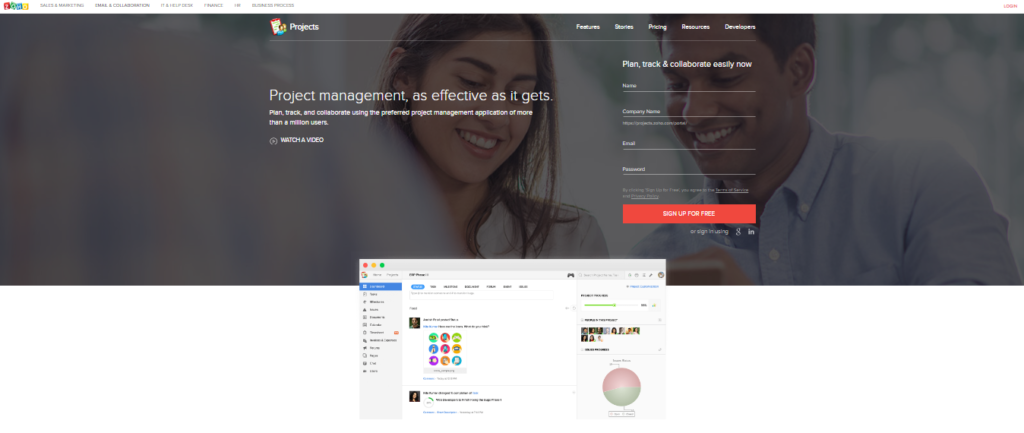 collaboration tools zoho