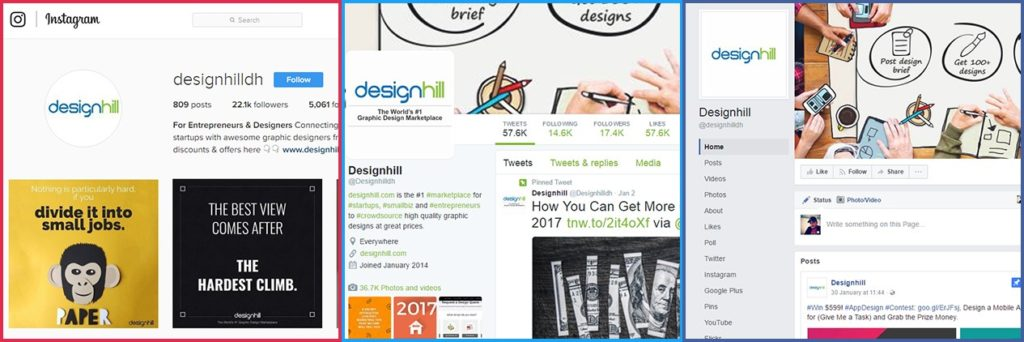 social media marketing designhill