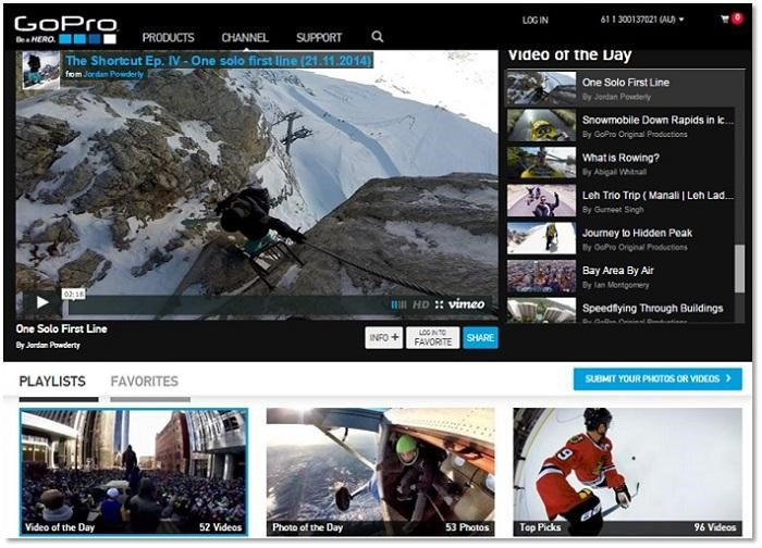 social media marketing gopro