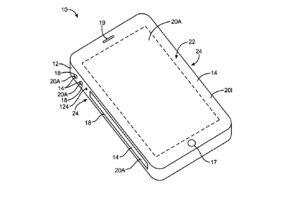 electronic devices with sidewall display