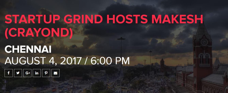 startup grind hosts makesh crayond