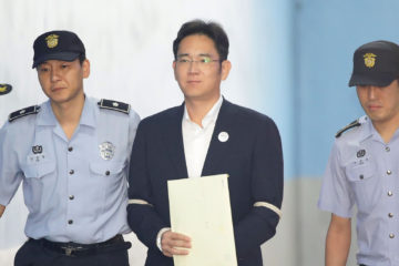 samsung jay lee jailed five years