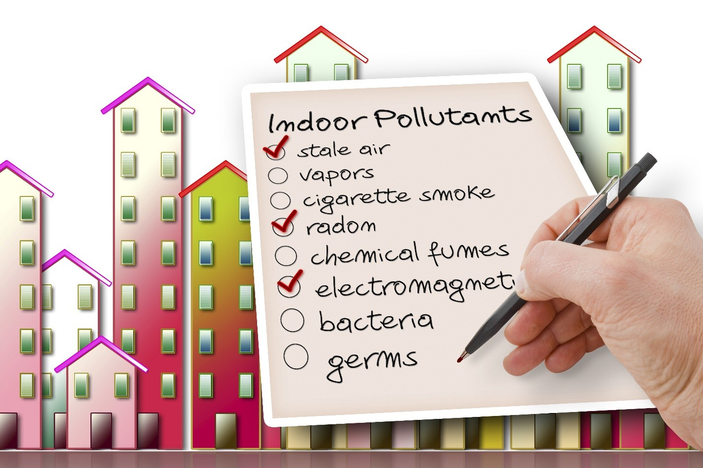 indoor air pollution Context - air pollution – be it indoors or outdoors – is a major environmental health concern as it can lead to serious health effects, such as respiratory diseases, including asthma and lung cancer.