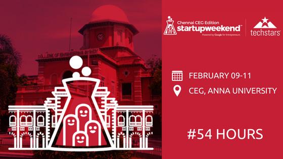 startup weekend chennai ceg edition 2018