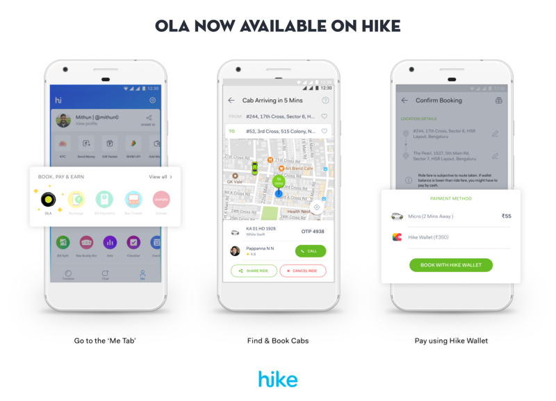 Hike partners Ola