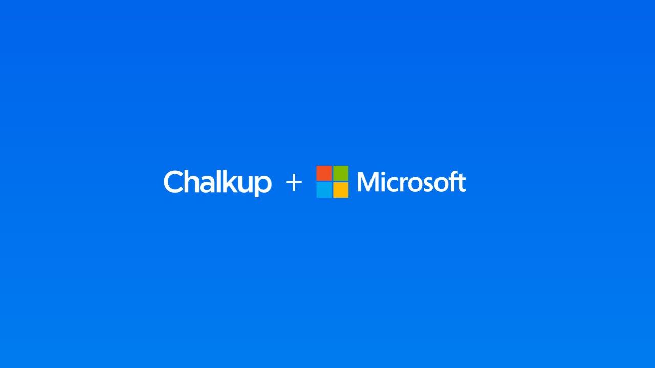 Microsoft partners Chalkup