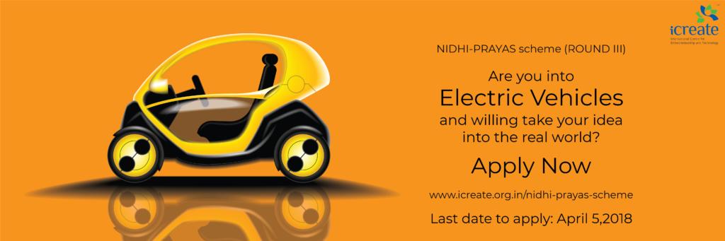 iCreate Nidhi Prayas Scheme