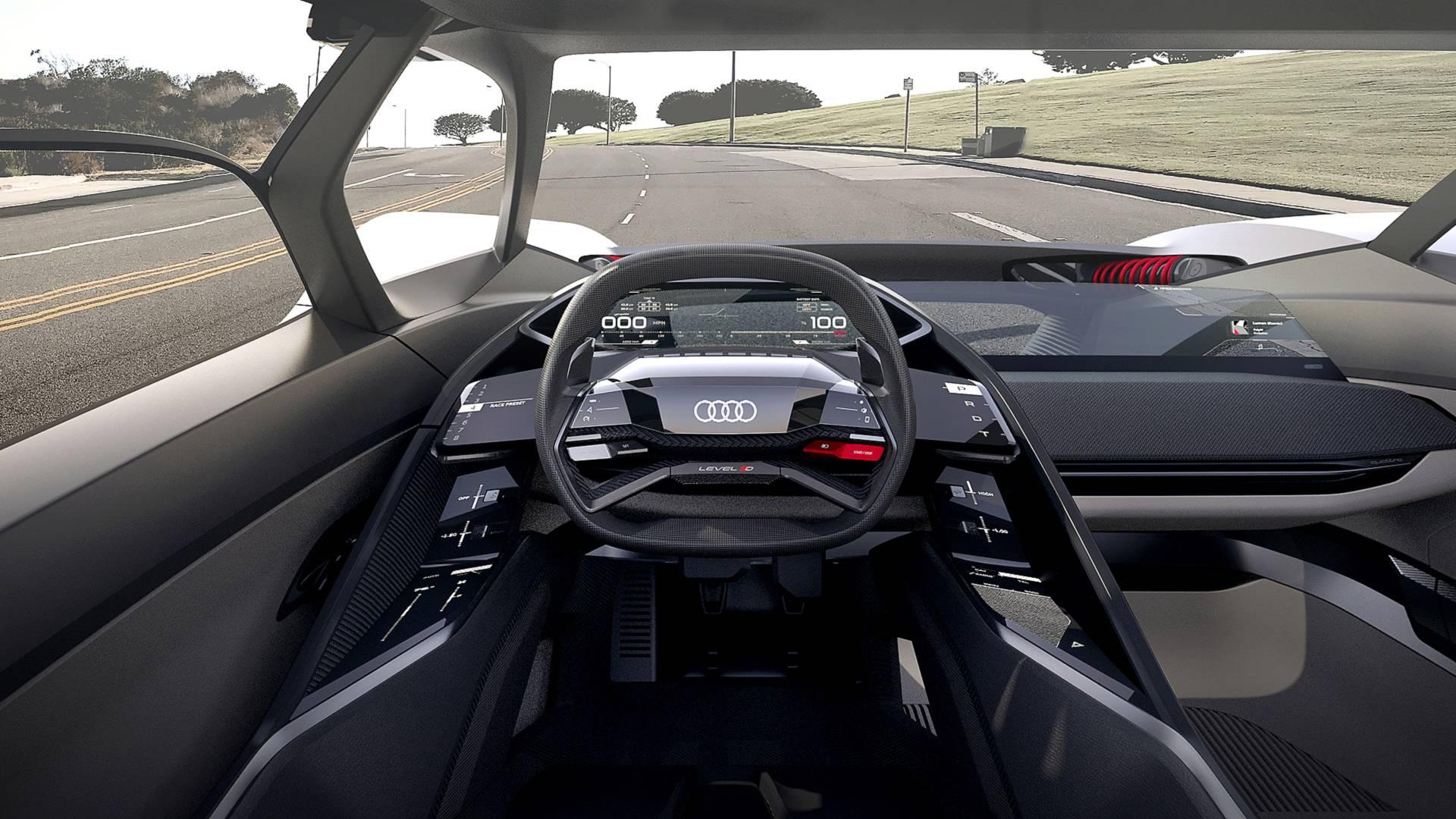 Audi PB18 E-tron concept cabin