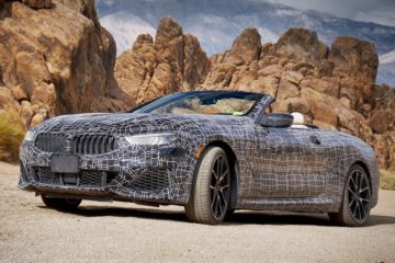 BMW 8-series convertible death valley