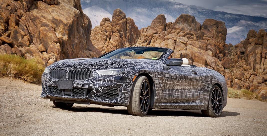 BMW 8-series convertible death valley
