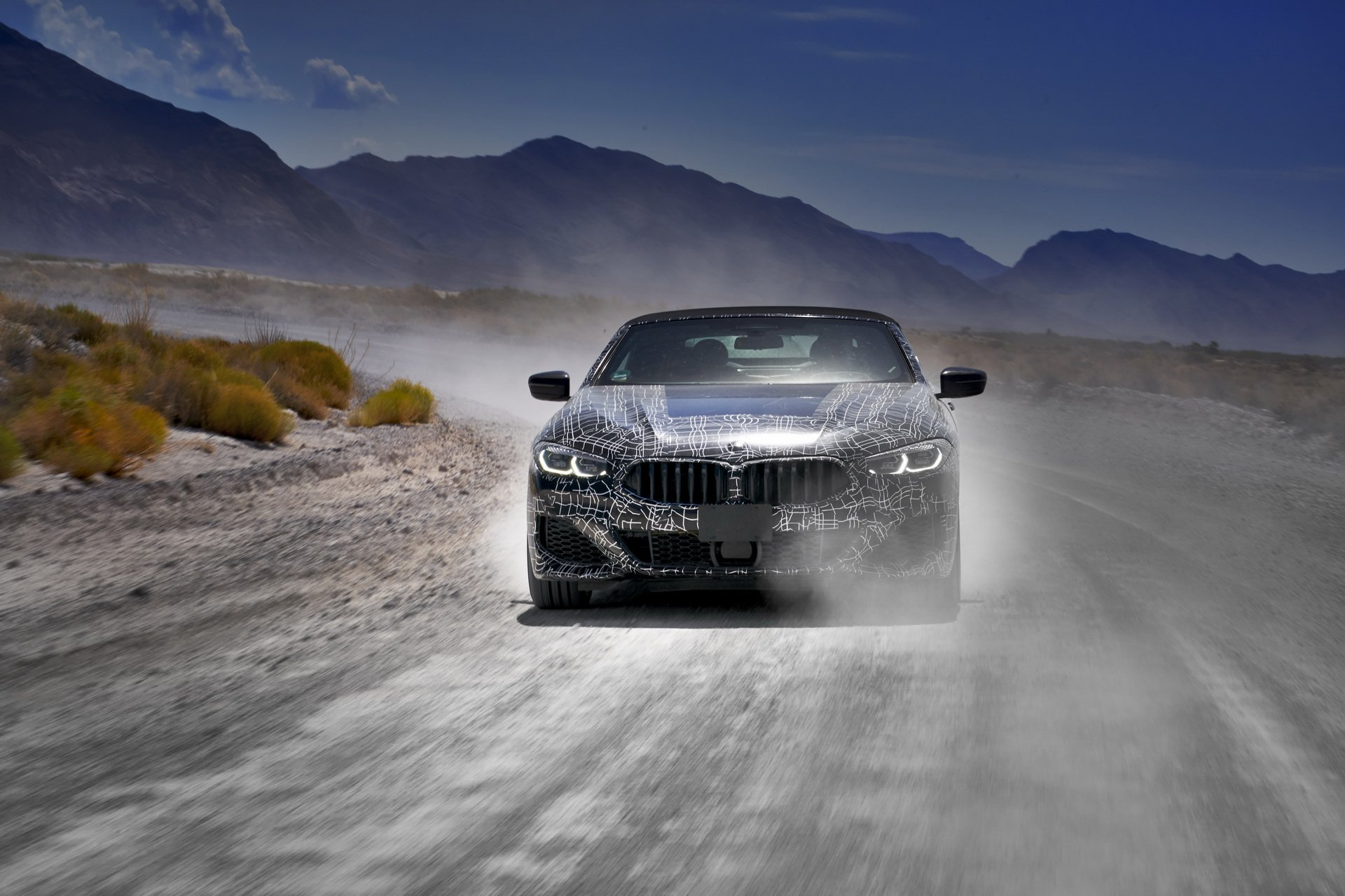 BMW 8-series convertible off road