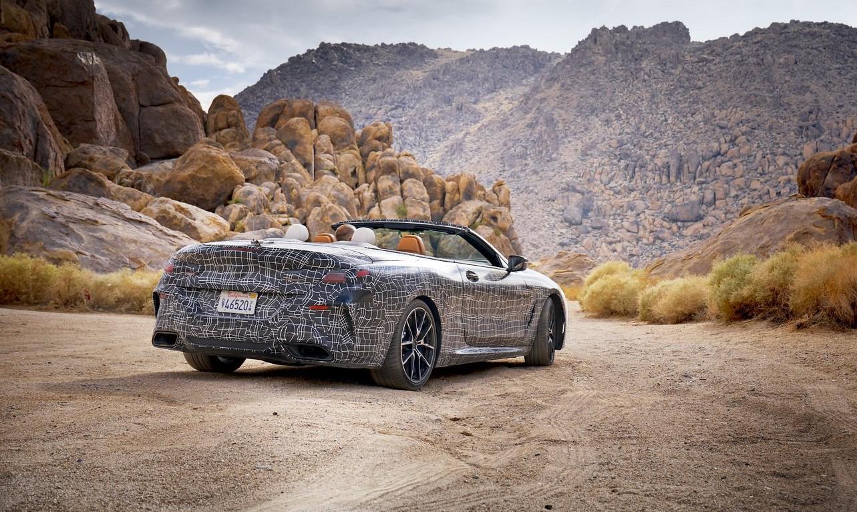 BMW 8-series convertible top down