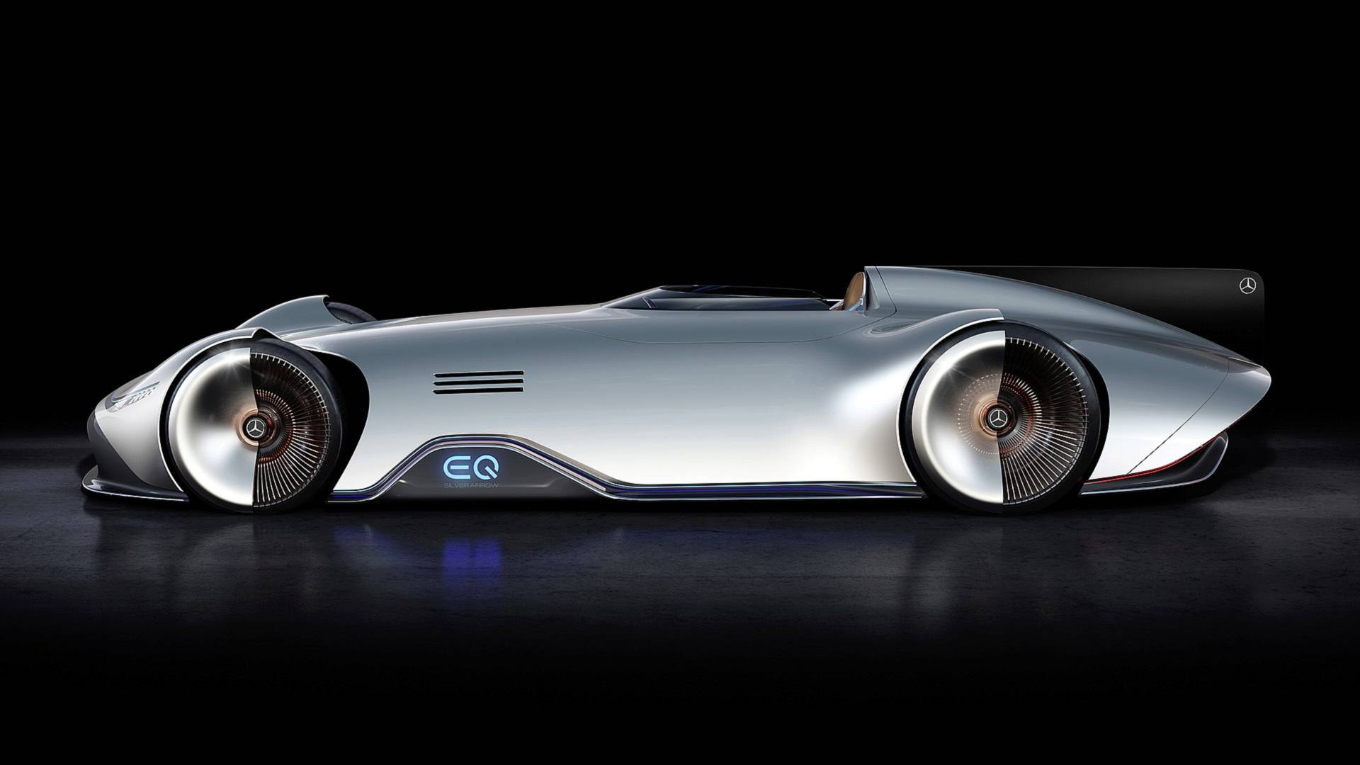 Mercedes EQ Silver Arrow side look