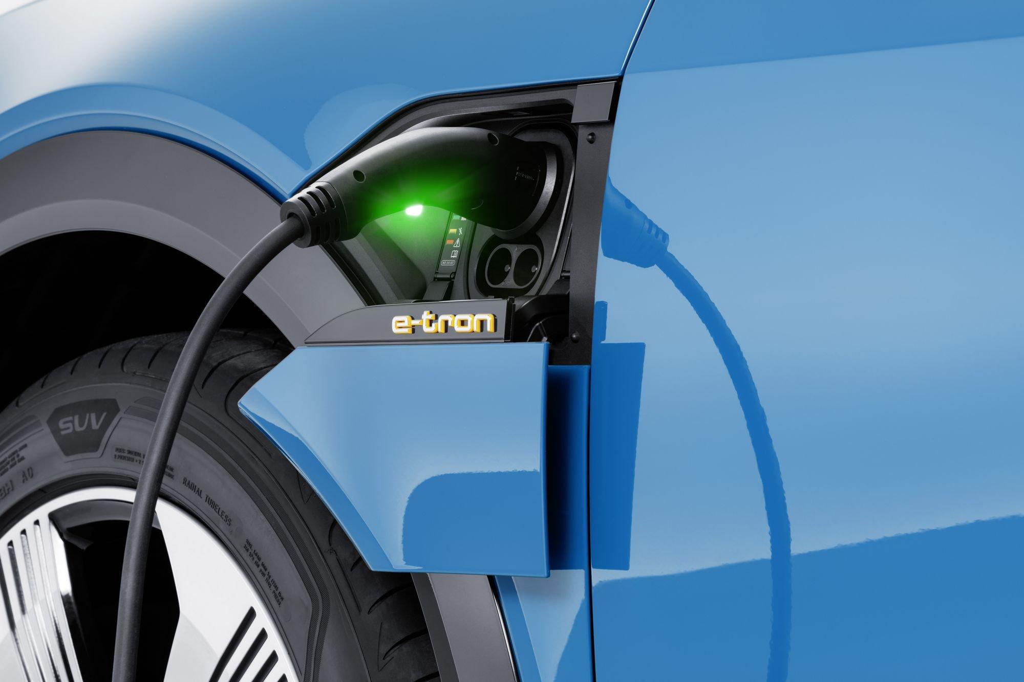 Audi E-tron suv charging