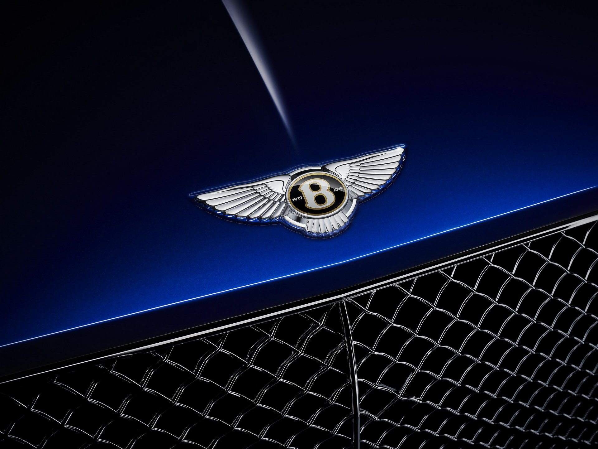 Bentley centenary blue