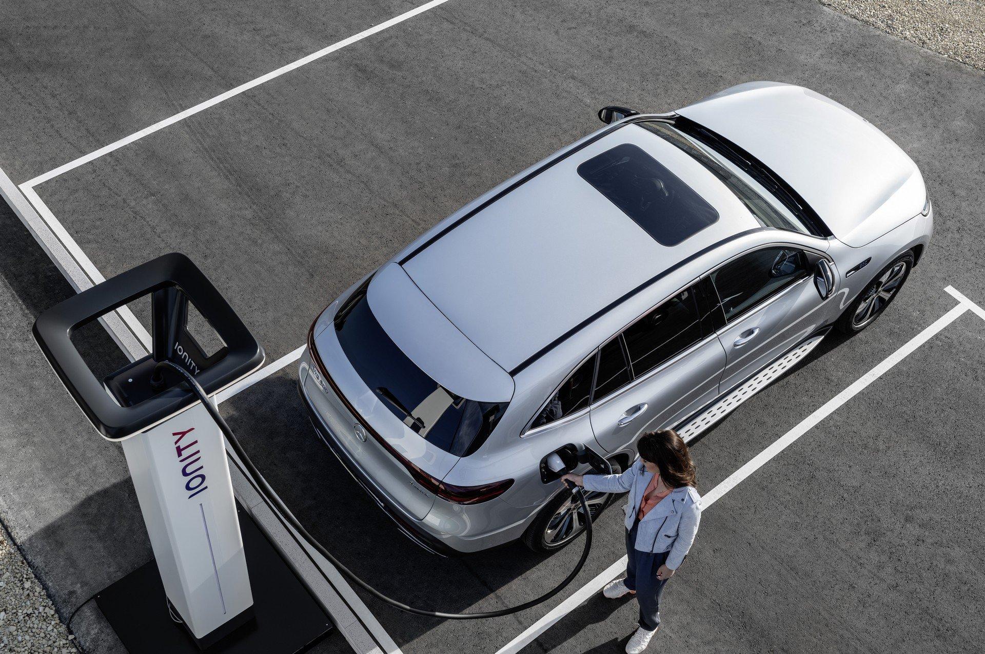 Mercedes EQC charging