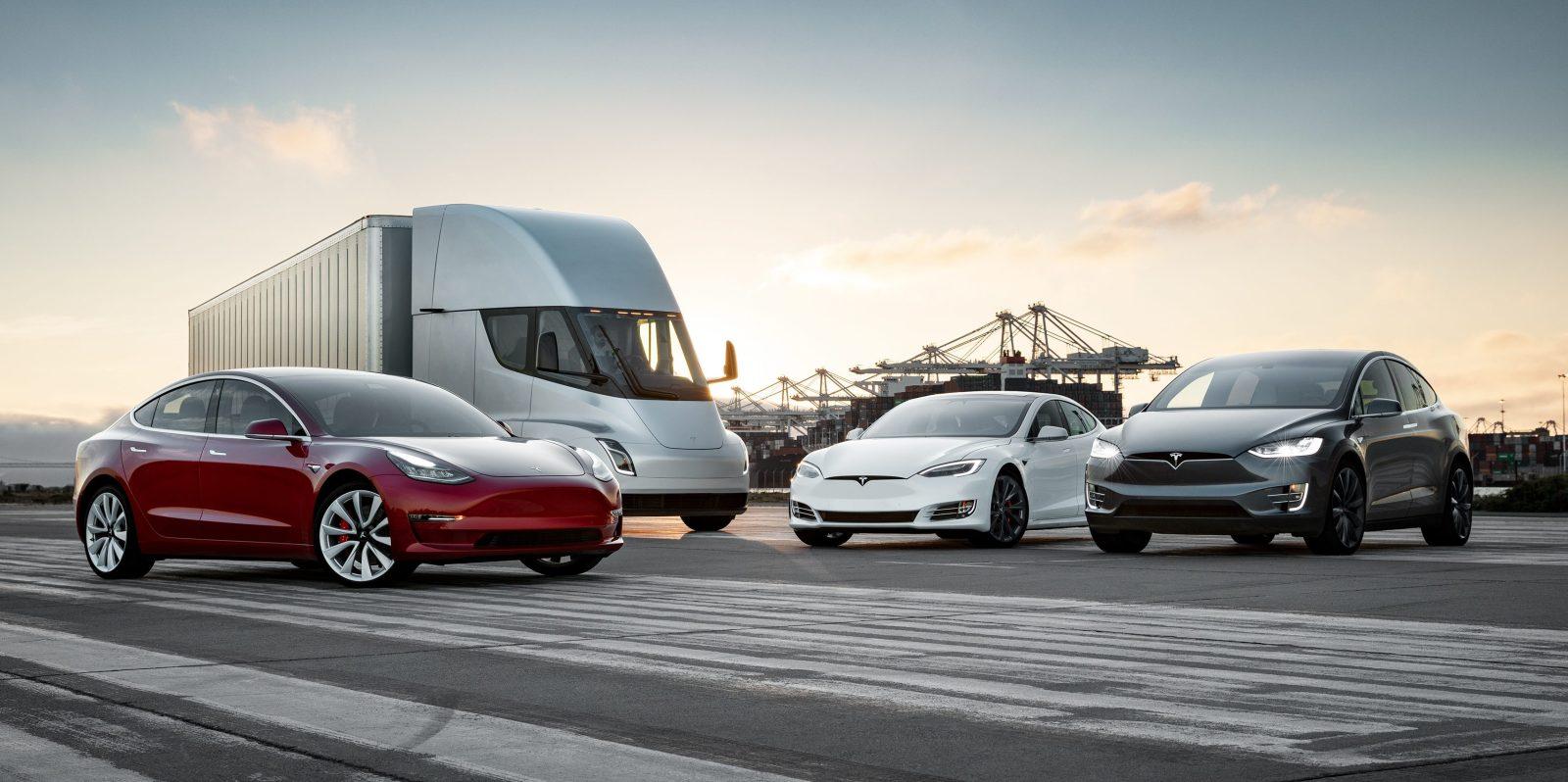 Tesla full lineup