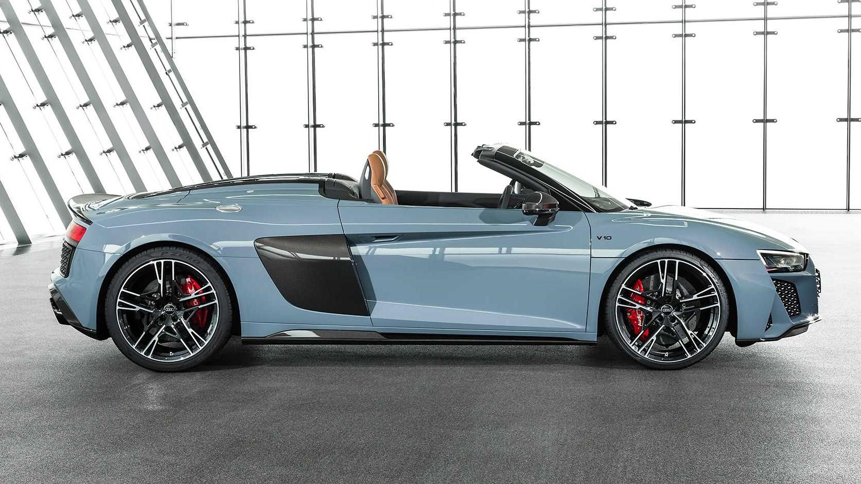 2019 Audi R8 Spyder side profile