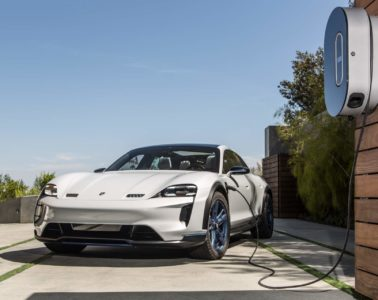 Porsche Taycan production charging system