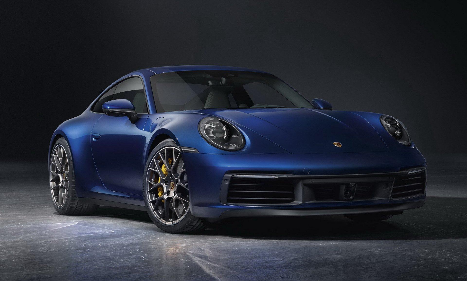 2020 Porsche 911 carrera 4S blue