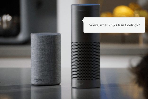 Alexa flash briefing for brand building