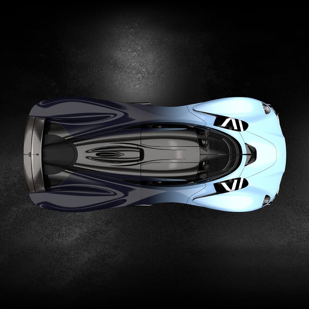 Aston Martin Valkyrie top carbon fiber