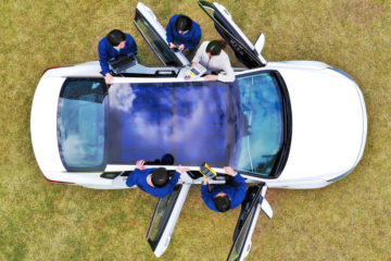 Hyundai solar panel car roof